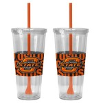 Boelter Brands Oklahoma State University Bold Neo Sleeve 22 oz. Straw Tumblers 2-Pack - view number 1