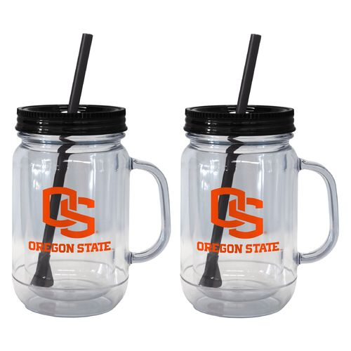 Boelter Brands Oregon State University 20 oz. Handled Straw Tumblers 2-Pack