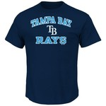 Majestic Men's Tampa Bay Rays Heart and Soul T-shirt