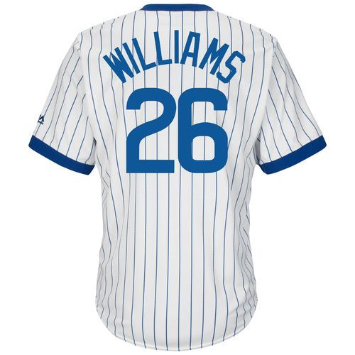 Majestic Men's Chicago Cubs Billy Williams #26 Cooperstown Cool Base 1968-69 Replica Jersey
