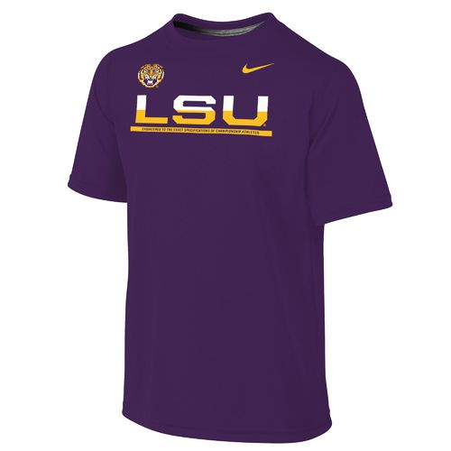 Nike™ Boys' Louisiana State University Dri-FIT Legend Short Sleeve T-shirt