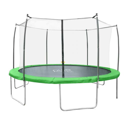 Pure Fun Dura-Bounce 12' Round Trampoline with Enclosure