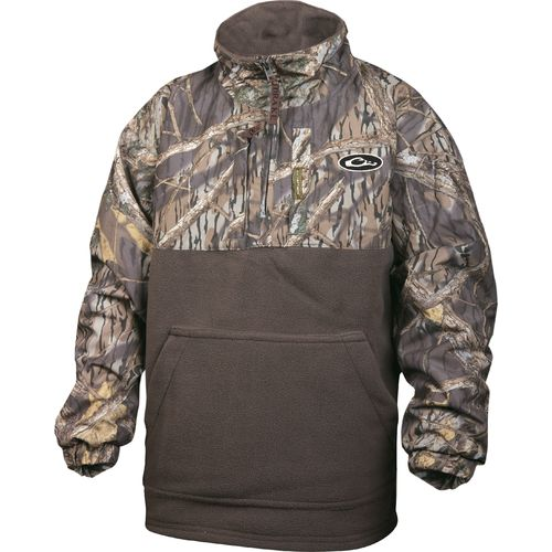 Drake Waterfowl Juniors' 1/4 Zip Eqwader Fleece Coat