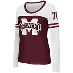 Colosseum Athletics™ Women's Mississippi State University Hornet Football Long Sleeve T-shi