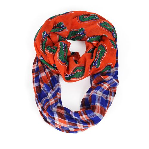 ZooZatz Women's University of Florida Tartan Infinity Scarf