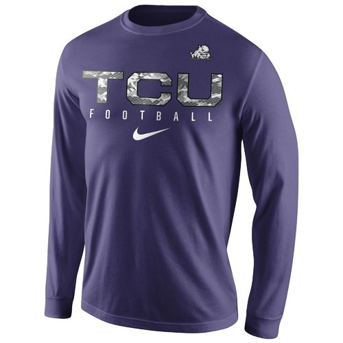 Nike™ Men's Texas Christian University Practice Long Sleeve T-shirt