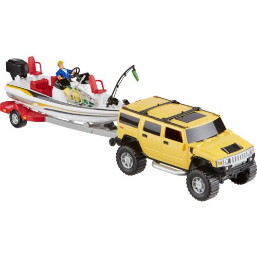 Tree House Kids Imagination Adventure Series Hummer with Bass Boat Playset