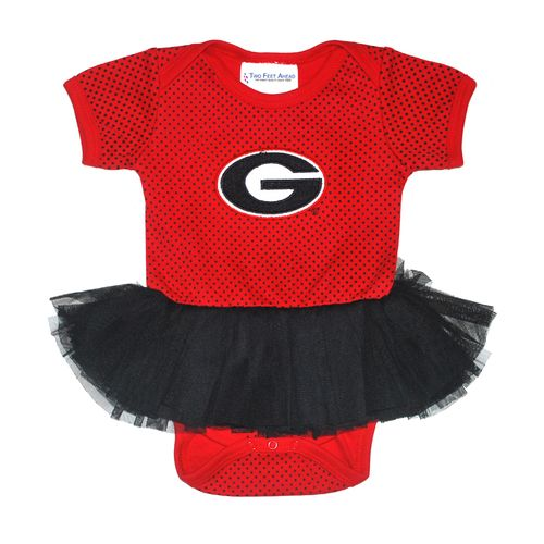 Display product reviews for Two Feet Ahead Infant Girls' University of Georgia Pin Dot Tutu Creeper