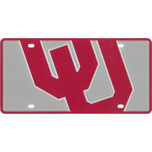 Stockdale University of Oklahoma Laser-Cut Mega License Plate