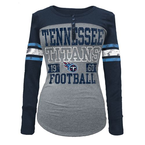 5th & Ocean Clothing Women's Tennessee Titans Button Long Sleeve Shirt