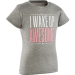 Under Armour™ Toddler Girls' I Wake Up Awesome Short Sleeve T-shirt