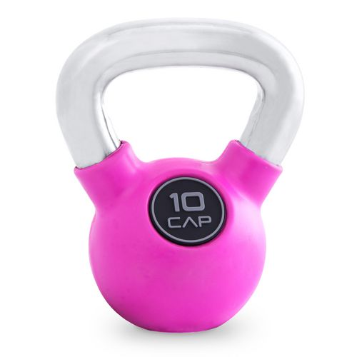 CAP Barbell Rubber-Coated 10 lb. Kettlebell with Chrome Handle - view number 1