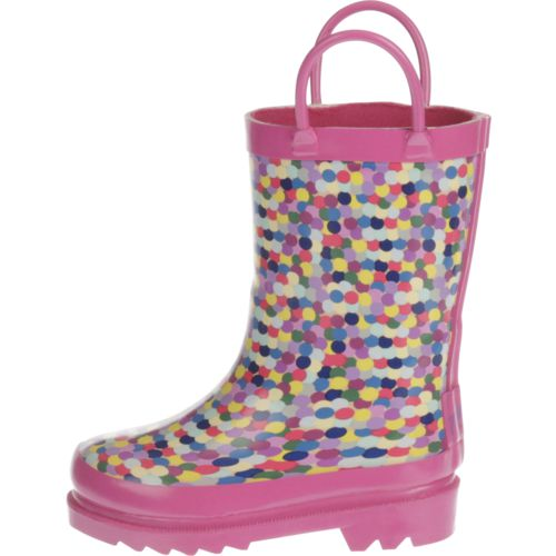 Austin Trading Co.™ Toddler Girls' Confetti Rubber Boots