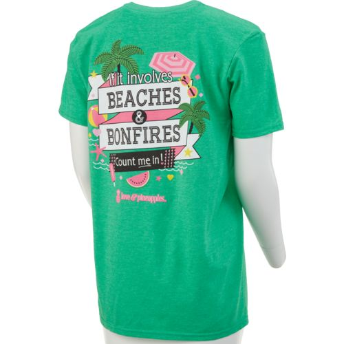 Love & Pineapples Women's Beaches and Bonfires Short Sleeve T-shirt - view number 1