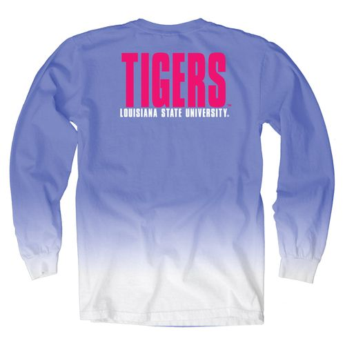 Blue 84 Women's Louisiana State University Ombré Long Sleeve Shirt
