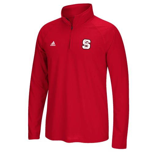 adidas Men's North Carolina State University Sideline Basic Logo 1/4 Zip Pullover