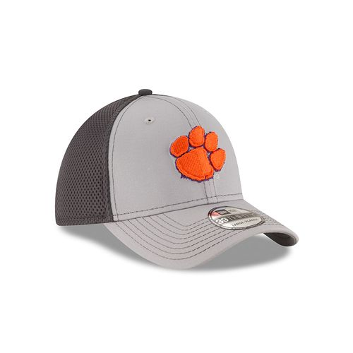 New Era Men's Clemson University Grayed Out Neo 39THIRTY Cap - view number 3