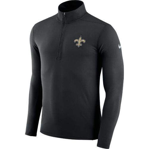 Nike Men's New Orleans Saints Element Dry 1/4 Zip Pullover - view number 1