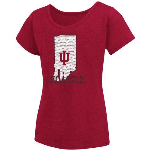 Colosseum Athletics™ Girls' Indiana University Tissue 2017 T-shirt - view number 1