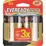 Eveready Gold D Alkaline Batteries 4-Pack - view number 1