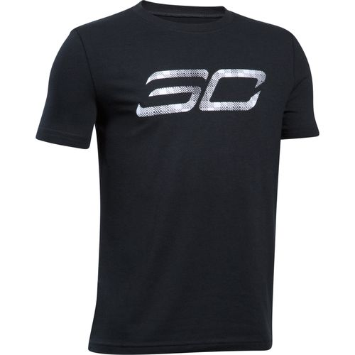 Under armour boys 39 stephen curry logo short sleeve for Stephen curry under armour shirt