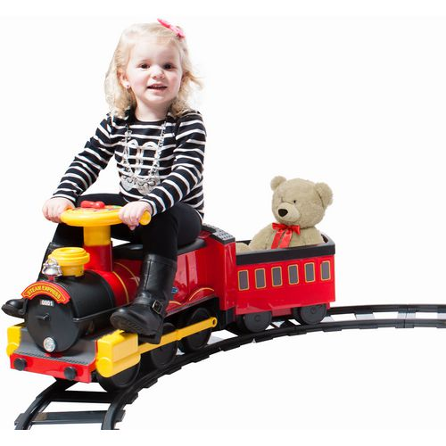 RollPlay 6V Kids' Ride Along Motorized Steam Train Ride-On - view number 4