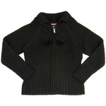 French Toast Girls' Pom-Pom Zip-Up Sweater - view number 1