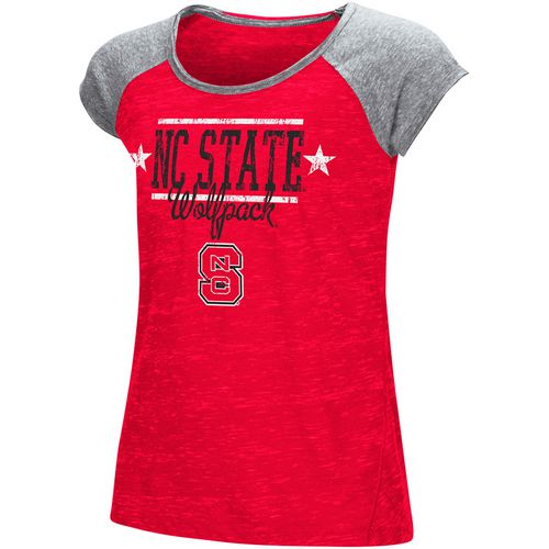 Colosseum Athletics Girls' North Carolina State University Sprints T-shirt