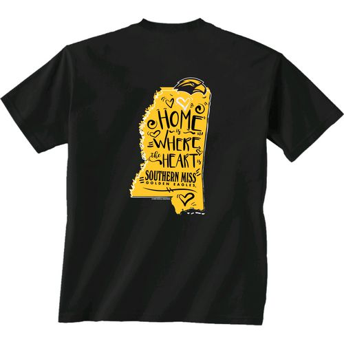 New World Graphics Girls' University of Southern Mississippi Where the Heart Is Short Sleeve T-s