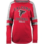 5th & Ocean Clothing Women's Atlanta Falcons Space Dye Long Sleeve Fan Top - view number 1