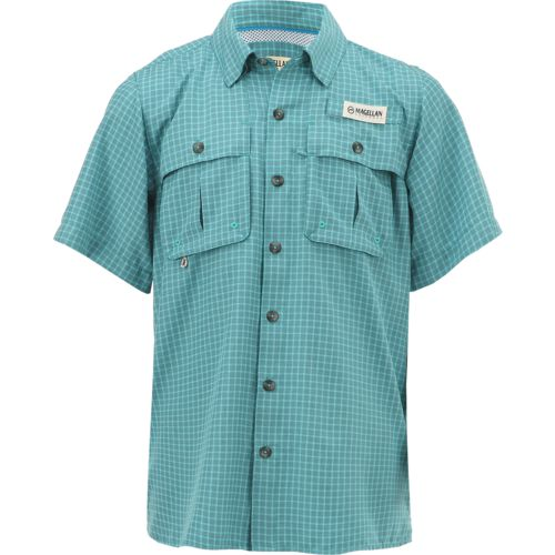 Display product reviews for Magellan Outdoors Boys' Aransas Pass Window Check Short Sleeve Fishing Shirt
