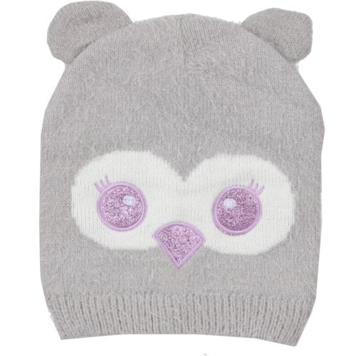 Magellan Outdoors Girls' Furry Owl Critter Beanie