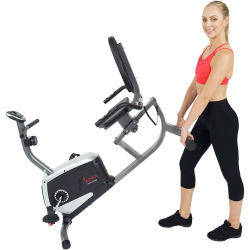 Sunny Health & Fitness Easy Adjustable Seat Recumbent Bike - view number 11