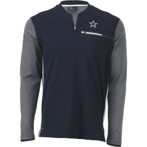 Nike Men's Dallas Cowboys Coaches 1/2 Zip Top