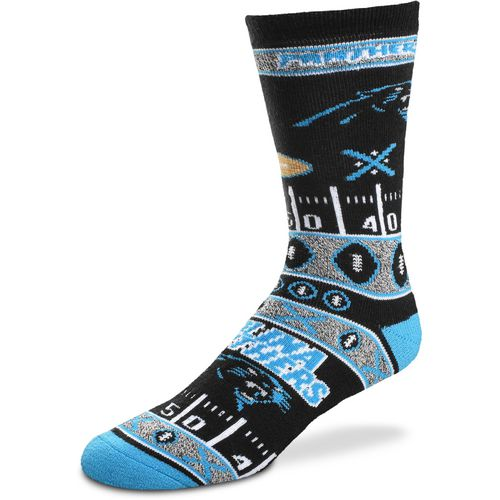 For Bare Feet Men's Carolina Panthers Super Fan Crew Socks