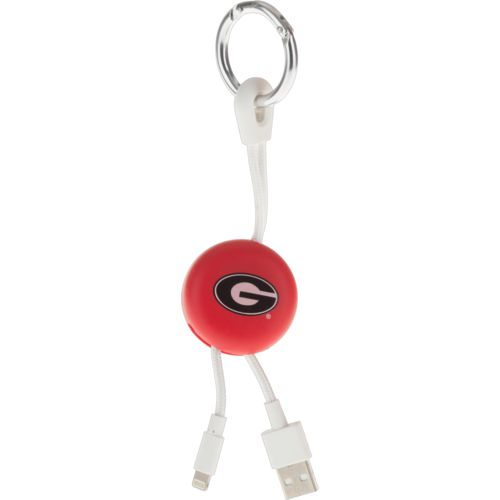 Mizco University of Georgia Lightening Phone Charger Keychain Cable