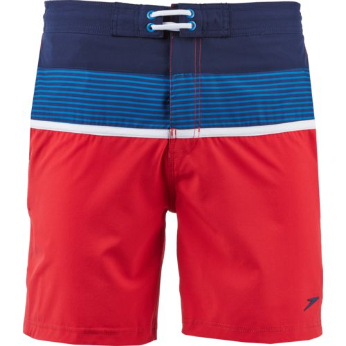 Speedo Men's 2-Tone Stripe E-Board Short
