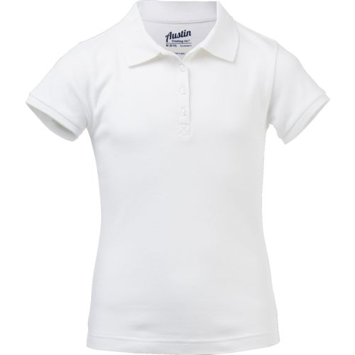 Austin Trading Co. Girls' Uniform Interlock Polo Shirt