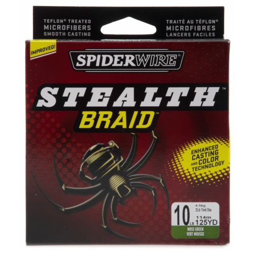 Spiderwire® Stealth™ Braid™ 10 lb. - 125 yards Braided Fishing Line