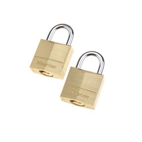 Master Lock® Solid Brass Padlocks 2-Pack