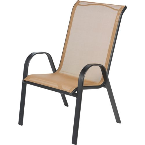 Elegant Mosaic Oversize Sling Stacking Chair