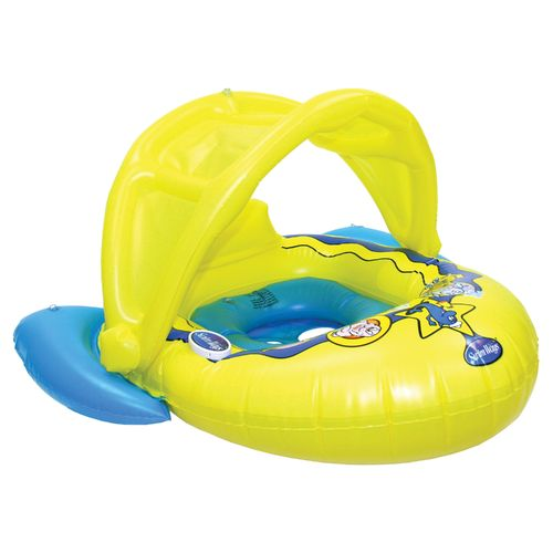 SwimWays Splash Sound Baby Boat with Canopy