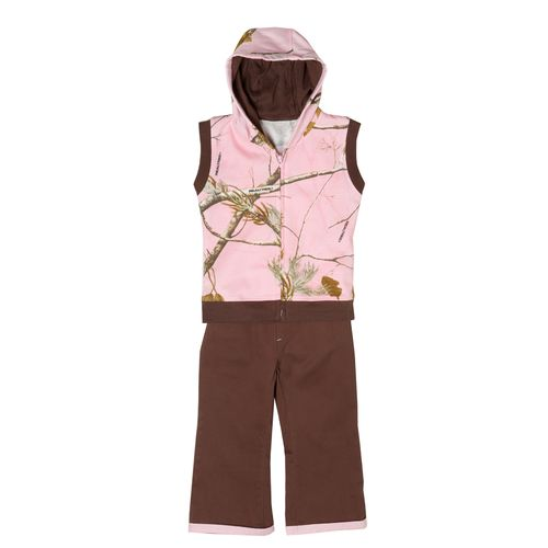 Game Winner® Toddler Girls' Hooded Vest and Pant Set