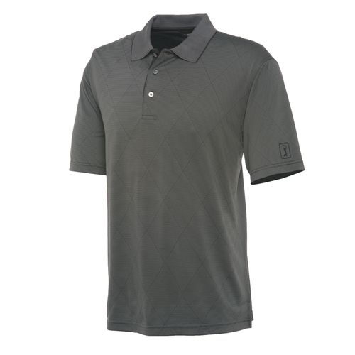 PGA Tour Men's Argyle Jacquard Performance Polo