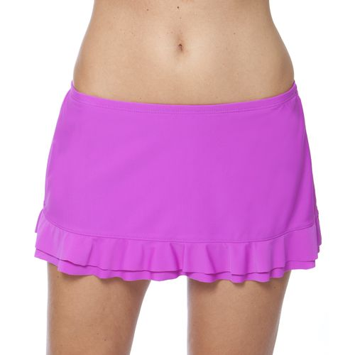 Malibu Women's Solid Ruffle Skirtini Swim Bottom