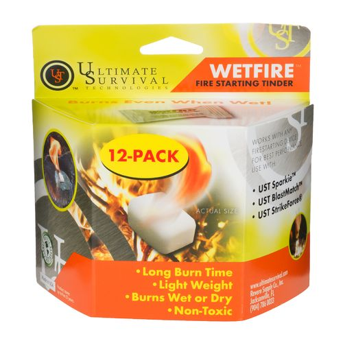 Display product reviews for Ultimate Survival Tech Wetfire™ Fire-Starting Tinder 12-Pack