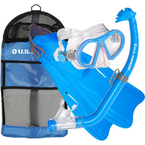 U.S. Divers Kids' Toucan Snorkel and Fins Set
