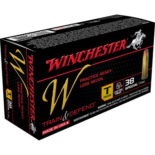 Winchester Train and Defend .38 Special 130-Grain Centerfire FMJ Pistol Ammunition
