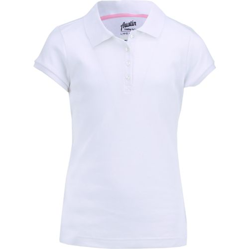 Austin Trading Co. Girls' Uniform Short Sleeve Interlock Polo Shirt