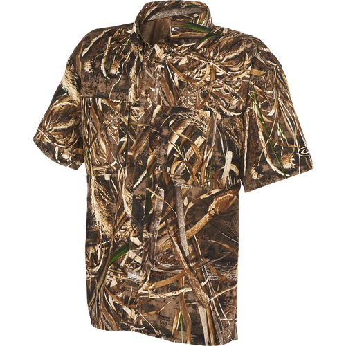 Drake Waterfowl Men s EST Vented Windshooter s Short Sleeve Shirt